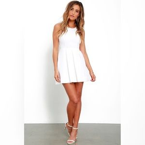 Lulu's Test Drive White Open Back Dress